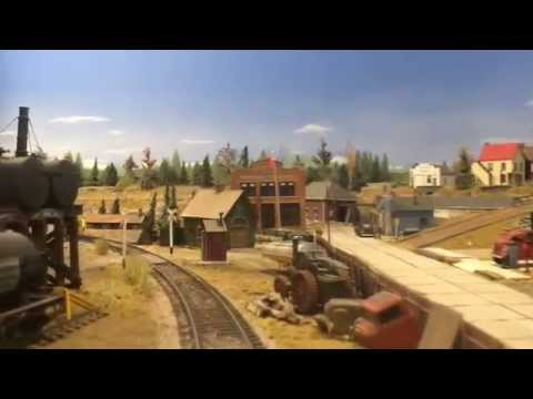 Canadian National / Ontario Southern, HO Scale Model Railroad Layout iCar Video