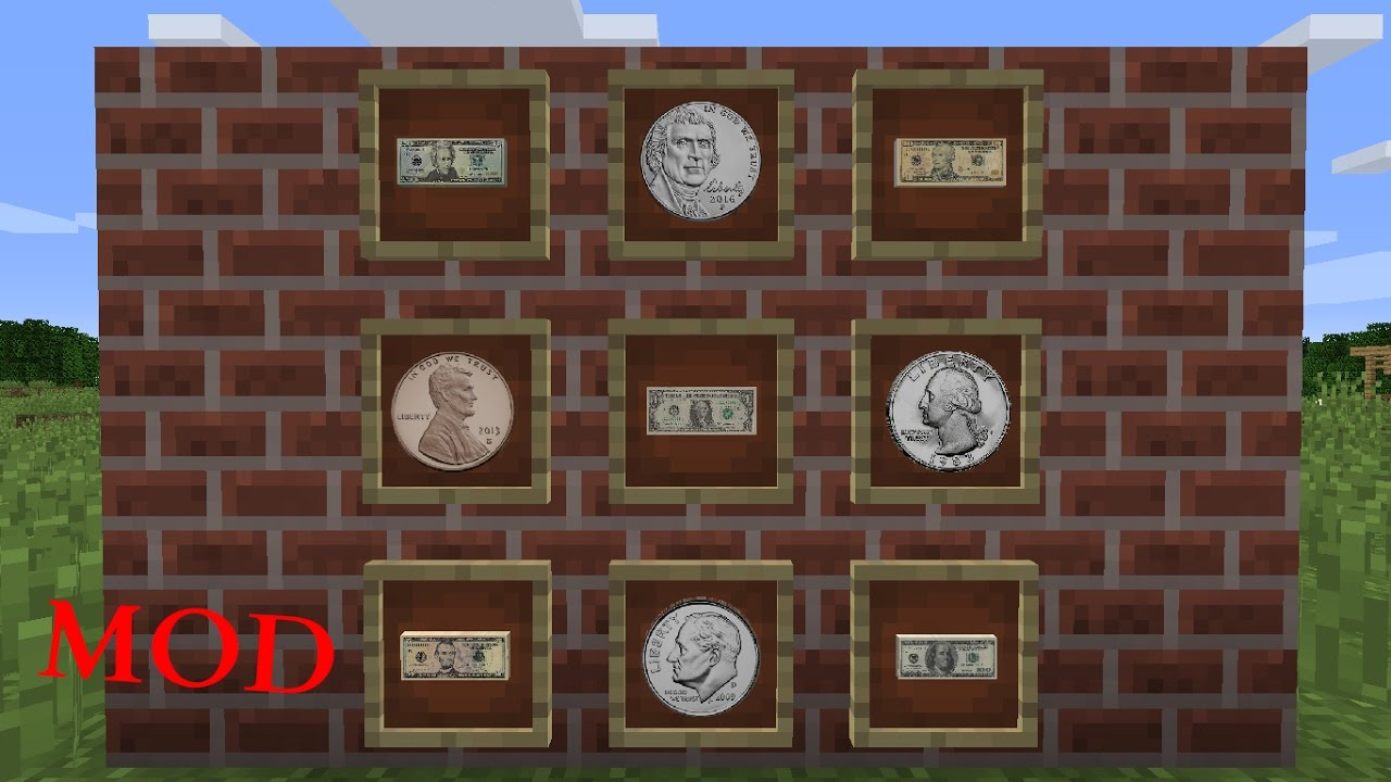 Real Money In Minecraft Mod Youtube