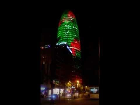 Torre Agbar Christmas
