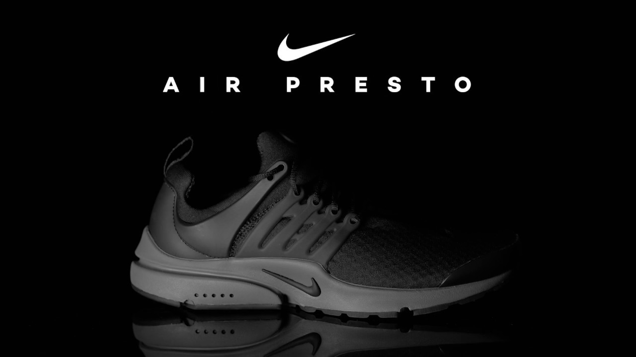 f04d1cc3e9e65 Nike Presto Black Grey - YouTube