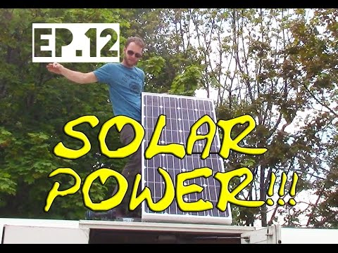 Living out of a Bus [Ep.12] Solar Panel Installation w/ Trojan 8D AGM Battery 250 Amp hr