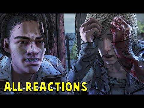 All Louis VS Violet Reactions to Tenn's Death -All Choices- The Walking Dead Final Season Episode 4  