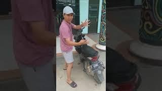 Memasang hidrolik jok pada motor beat fi