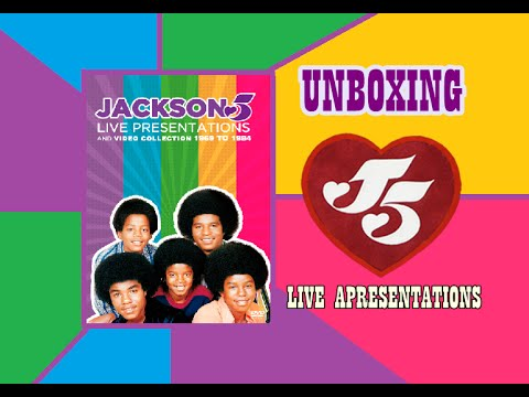 DVD Jackson 5 - Live Presentations and vídeo collection 1969 to 1984 - UNBOXING