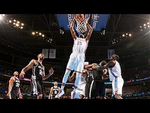 Kevin Durant's BIG slam vs. the Spurs!