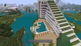 Minecraft Ps4 visite d'un Hôtel 7 étoile