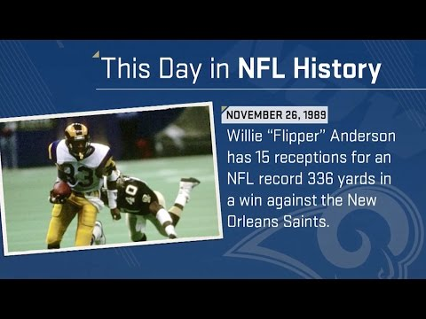 Flipper Anderson Sets NFL Record with 336 Receiving Yards | This Day in NFL History (11/26/89)