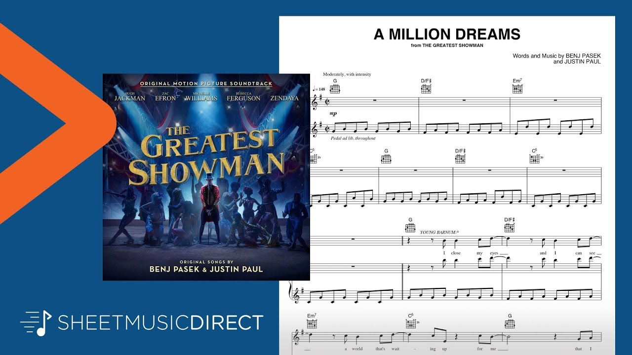 A Million Dreams Sheet Music (from The Greatest Showman