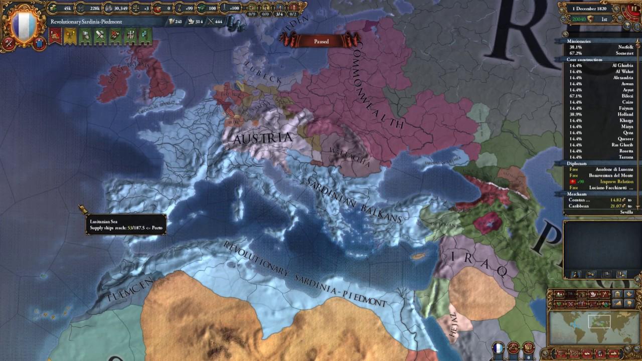 Sardinia Piedmont Eu4