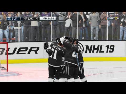 NHL 19 - Buffalo Sabres Vs Los Angeles Kings Gameplay - NHL Season Match Oct 20, 2018