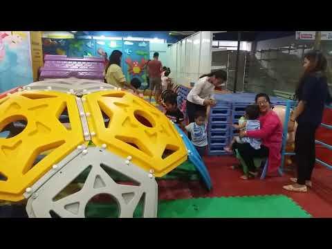 Kids playing in Civil Mall Kathmandu ( Baal sansar)