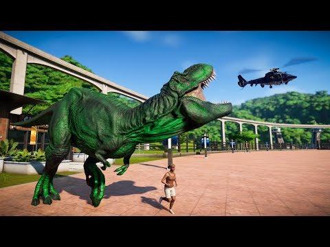 Green T-Rex & Carcharodontosaurus Breakout! Jurassic World Evolution