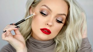 HOW TO COOL TONED HOLIDAY GLAM MAKEUP TUTORIAL