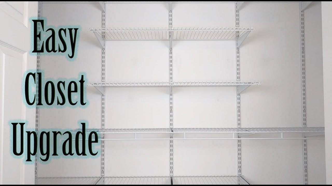 How To Install Closetmaid Shelftrack