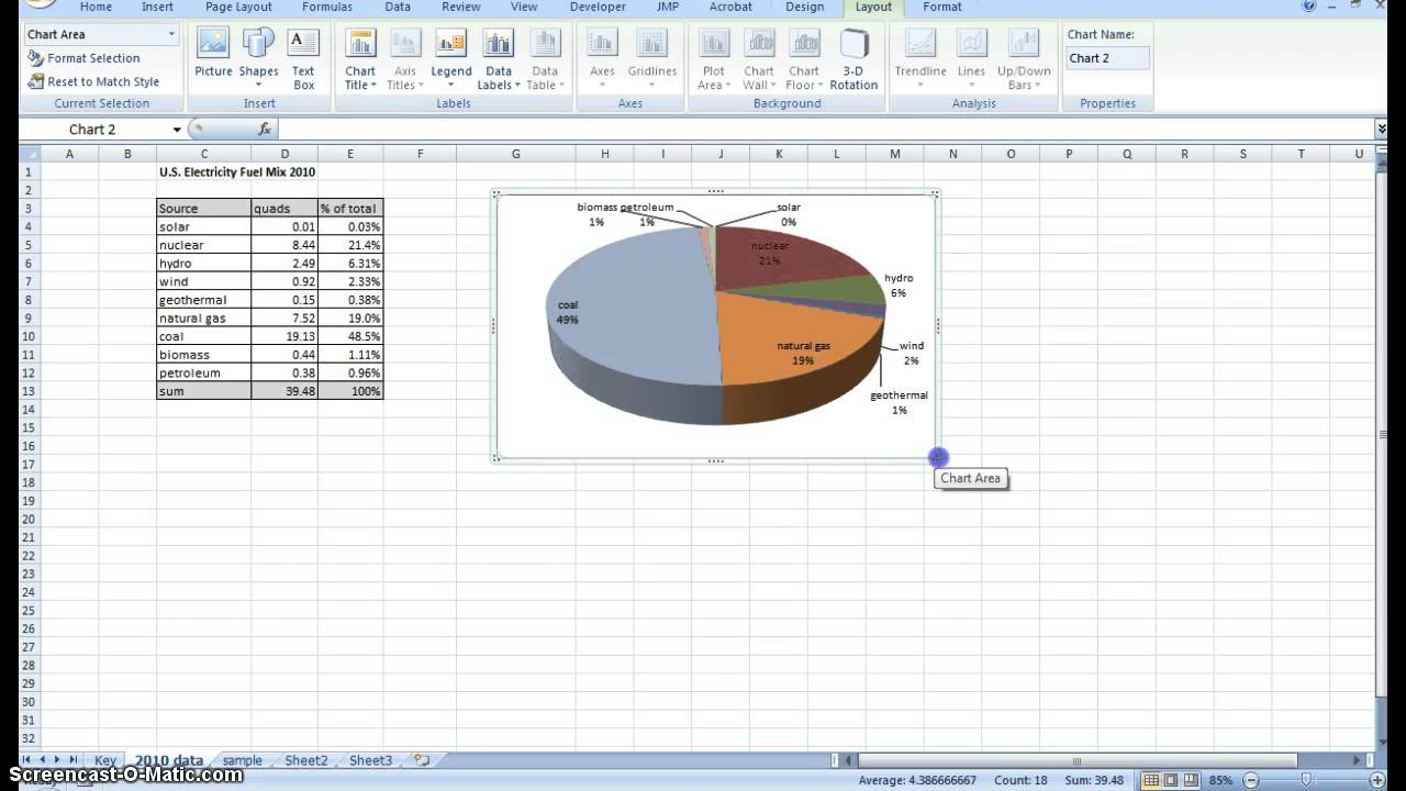 Creating pie chart and addingformatting data labels excel youtube ccuart Choice Image