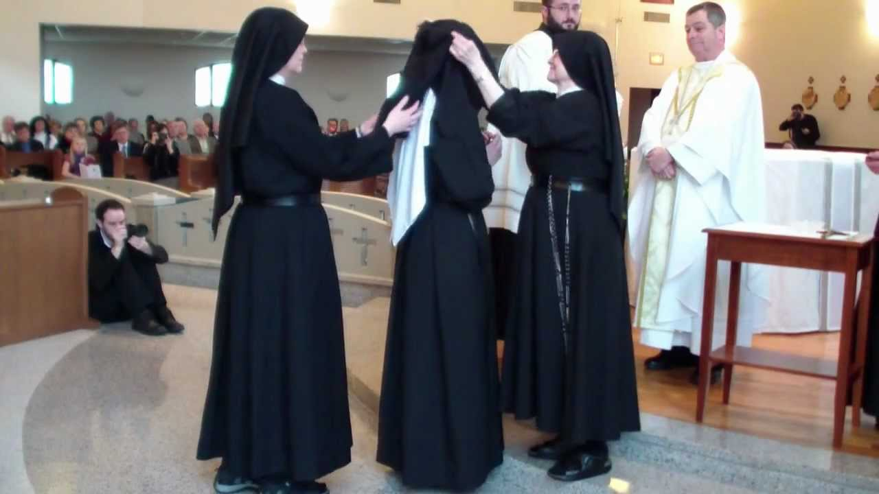 Passionist Nuns Vows Perfect Veil HD YouTube