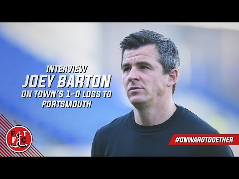Joey Barton after Portsmouth loss | Post Match