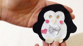 Como Fazer Porta Moedas em Feltro de Pinguim