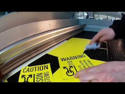 Tutorial: Laser cuting a sign from TroLase Thins