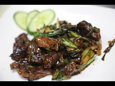 Mongolian Steak 蒙古牛肉