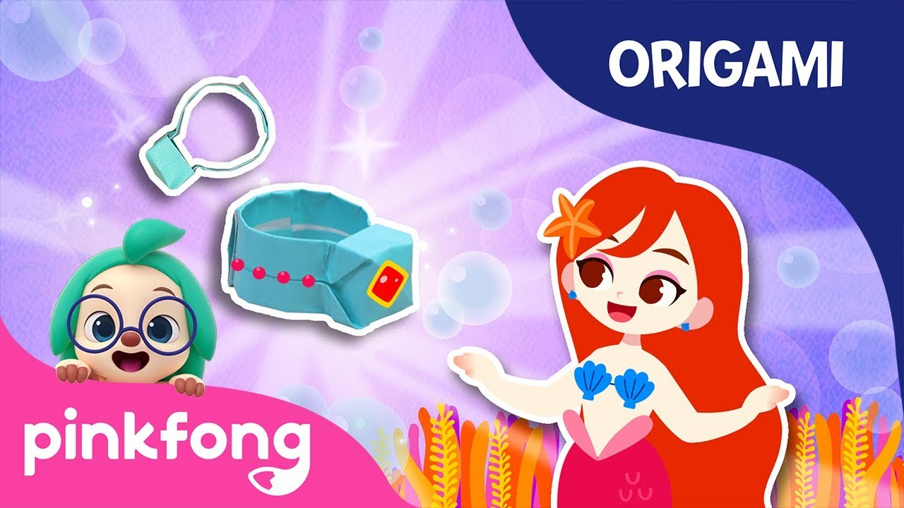 The Little Mermaids Ring | Pinkfong Origami | Origami and Songs | Pinkfong Crafts for Children