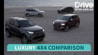2017 Luxury 4x4 Comparison: Land Rover Discovery v Ford Everest v Toyota Prado v Jeep Grand Cherokee