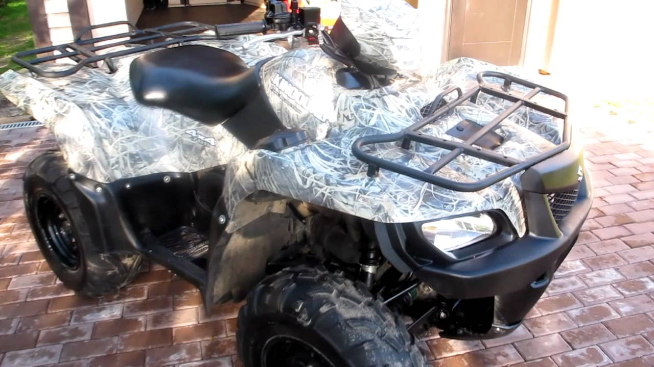 Suzuki King quad 700 2007 EFI Camo - YouTube