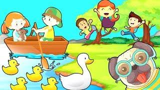 Пять маленьких утят Песенка Считалочка для детей Развивающие мультфильмы