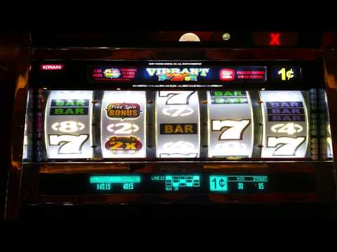 Nice Win! Vibrant 7's slot machine bonus round  at Parx casino