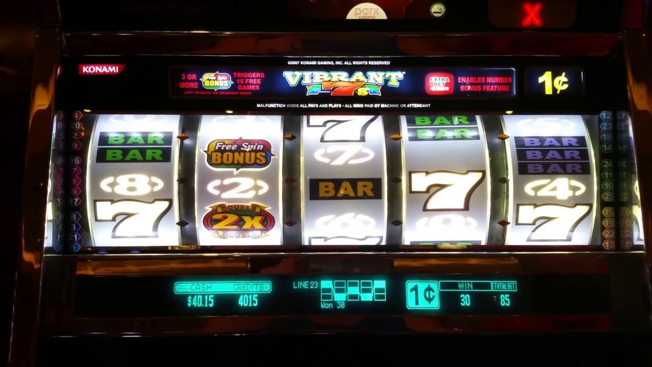 Nice Win Vibrant 7 S Slot Machine Bonus Round At Parx Casino