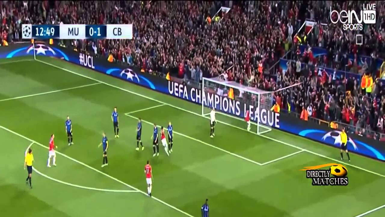 Manchester United Vs Club Brugge 3 1 All Goals Ucl