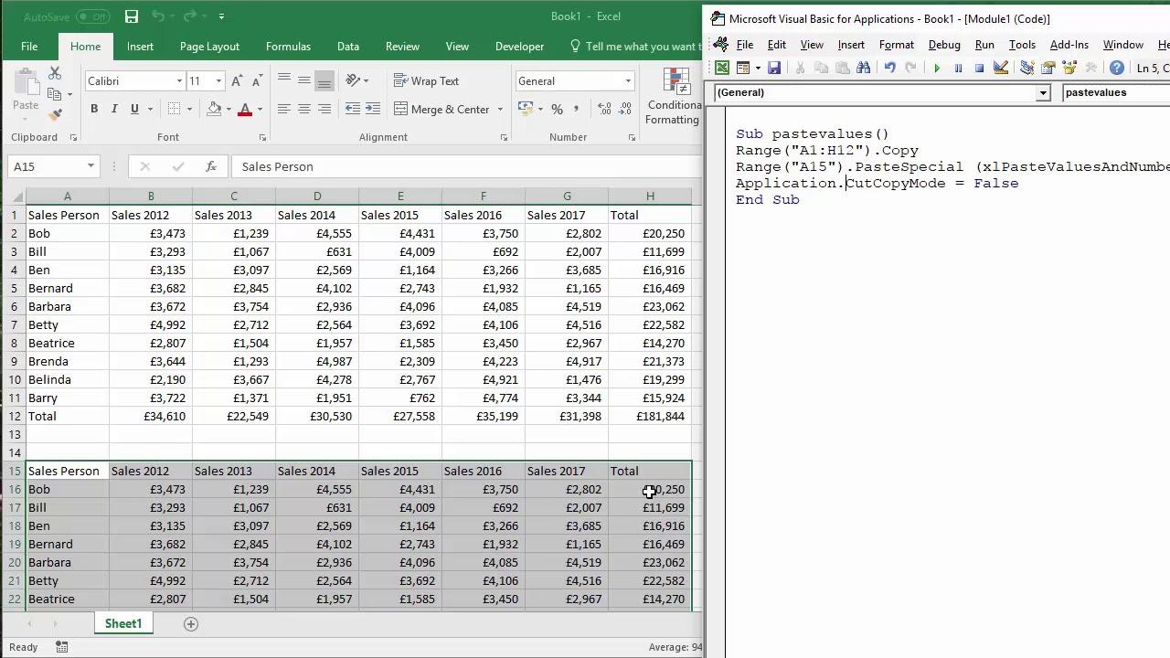 Excel VBA Macro to Paste Values & Number Formatting But Not Formulas