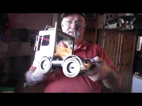 how i finished the Articulated Lorry ( metal art )