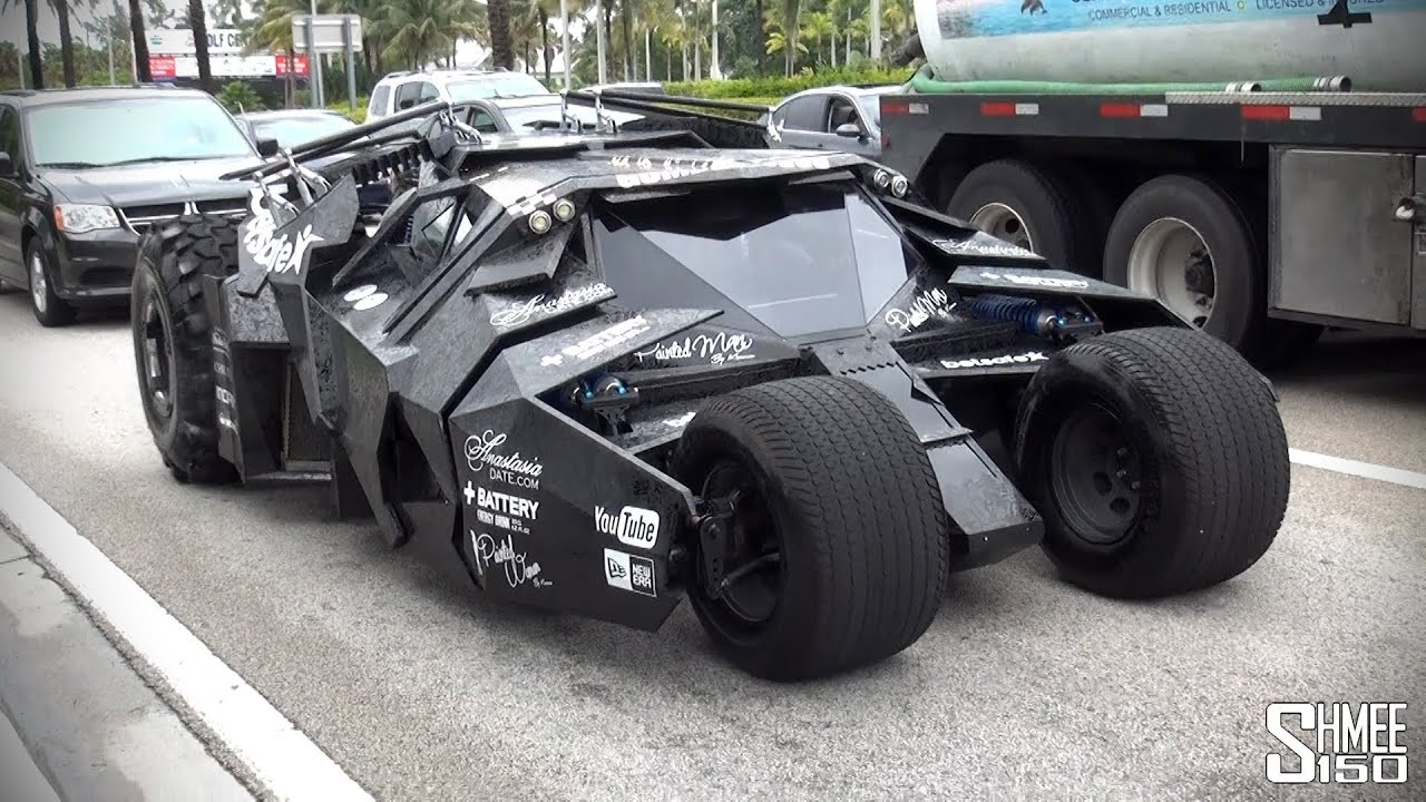 Batmobile Tumbler from Team Galag at Gumball 3000 2014 ...