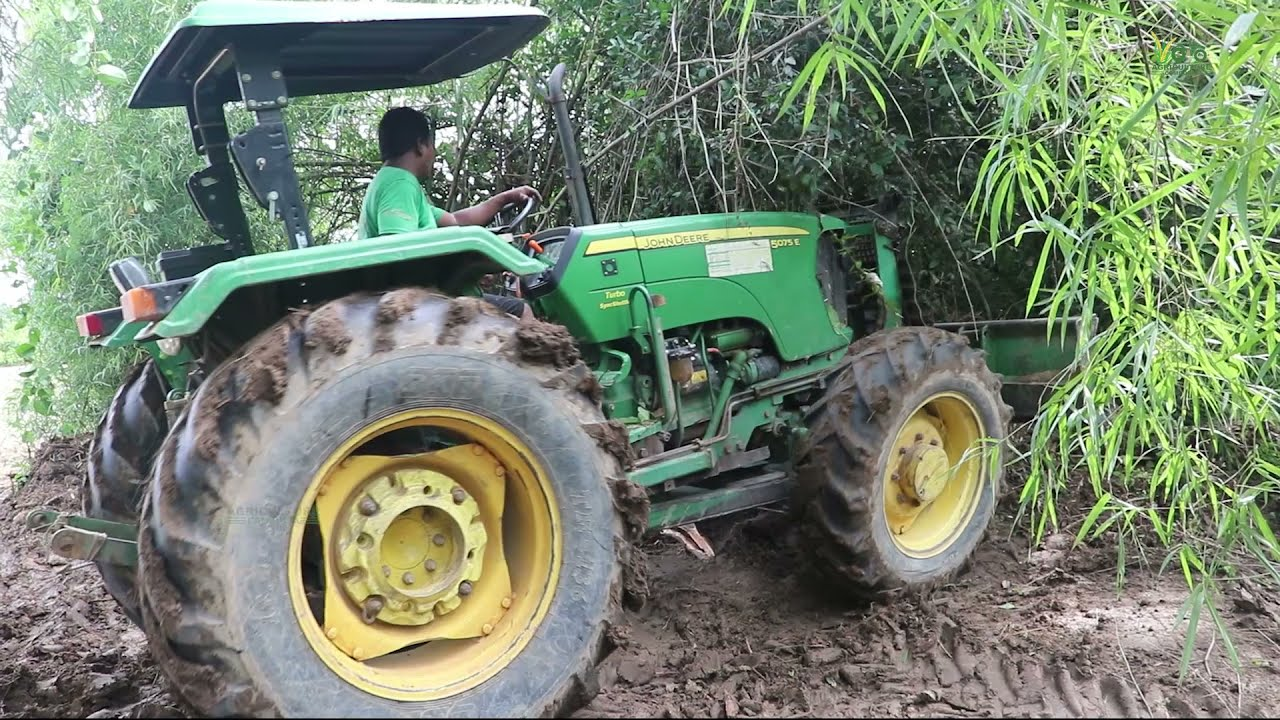 John Deere 5075E 75HP 4WD Tractor .The best forest tractor and land clearing.