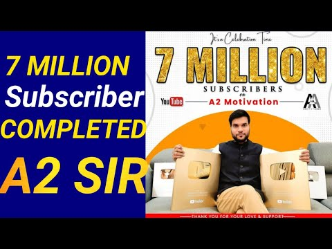 Arvind arora who is also a highly experienced chemistry teacher. A2 Motivation Arvind Arora Crossed 7 Million Subscriber Shorts Youtube