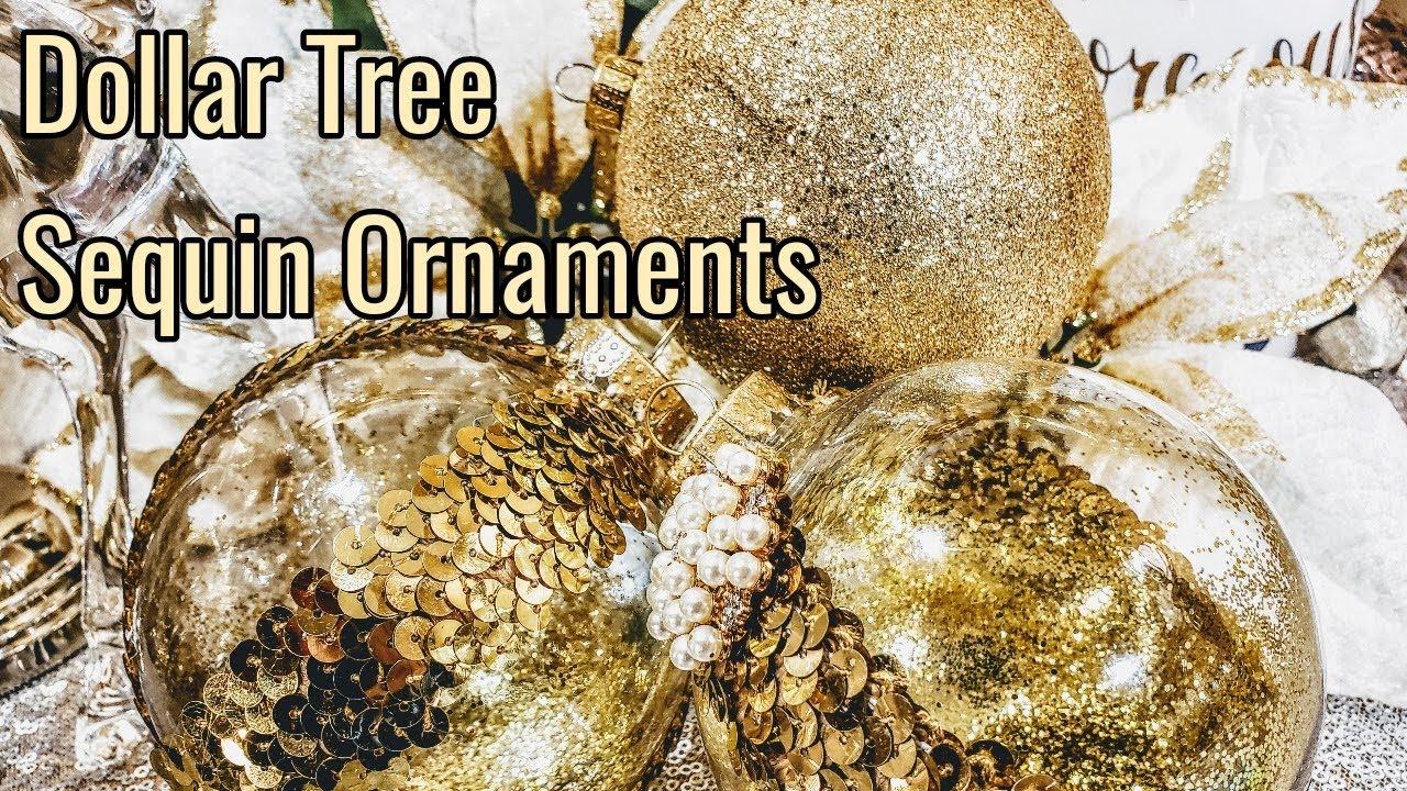 Diy Dollar Tree Gold Bling Glittery Christmas Ornaments Glam Christmas Day 8