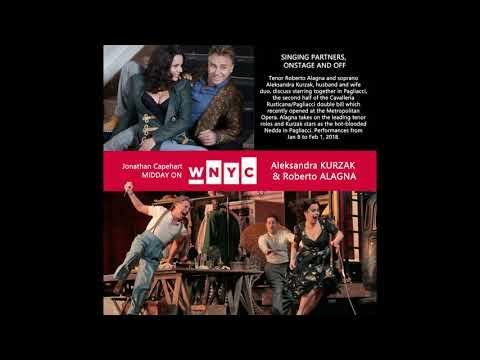 "Roberto Alagna & Aleksandra Kurzak | RADIO Interview ""Midday on WNYC"""