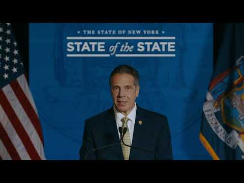 "New York Gov. Andrew Cuomo Giving his third ""State of the State"" address on Wednesday, Jan. 13."