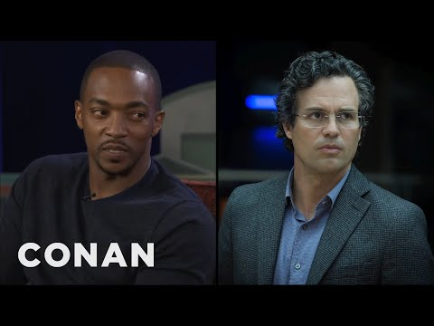 Anthony Mackie Outs Mark Ruffalo As The Biggest Plot Leaker   CONAN on TBS