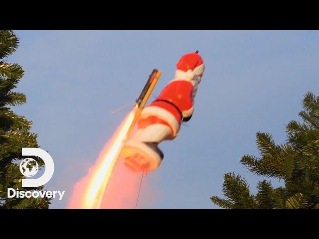 The Chimney Chute Rocket Boost Challenge | Rocket Around the Xmas Tree