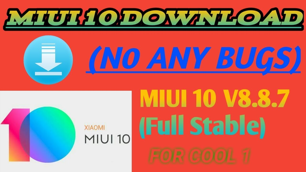 How To Download MiUi 10 ROM For Cool 1 (No BUG'S) VOLTE WORKED