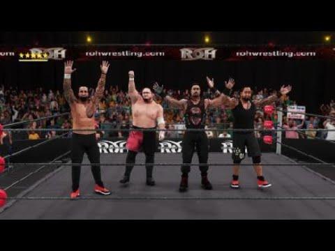 WWE 2K18 ROH Universe Mode Bullet Club Vs The Samoa Gangsters
