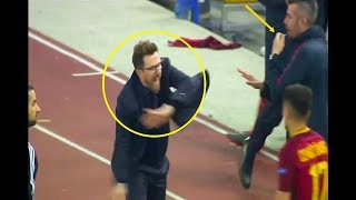 This What Eusebio Di Francesco did after the 3rd Goal