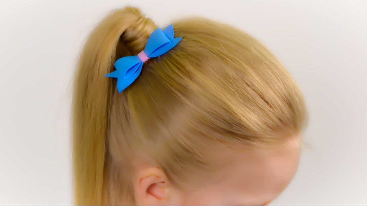 HOW TO PONYTAIL WITH PUFF. Very easy, stylish hairstyle for thin hair Quick and easy hairstyle ...