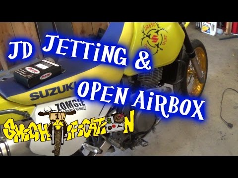 Installing JD jet kit and open air box - 2006 Suzuki DR650