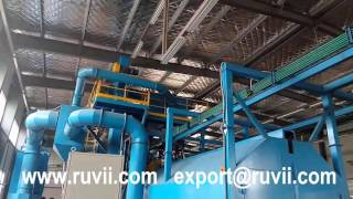 Ruvii RVT37 Hanging Through Shot Blasting Machine for Agricultural Machinery Parts (1)