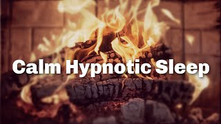 Calm Hypnotic Sleep Meditation/ Soothing Spoken Voice and Fire Sounds