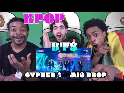 BTS Cypher 4 + MIC DROP (Steve Aoki Remix)   REACTION [2017 MAMA In Hong Kong]