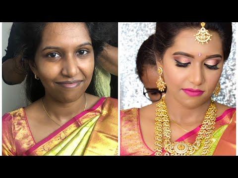 South Indian muhurtam makeup look for dusky skin